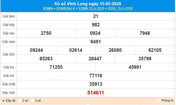 Soi cầu KQXS Vĩnh Long 22/5/2020, chốt lô số đẹp thứ 6
