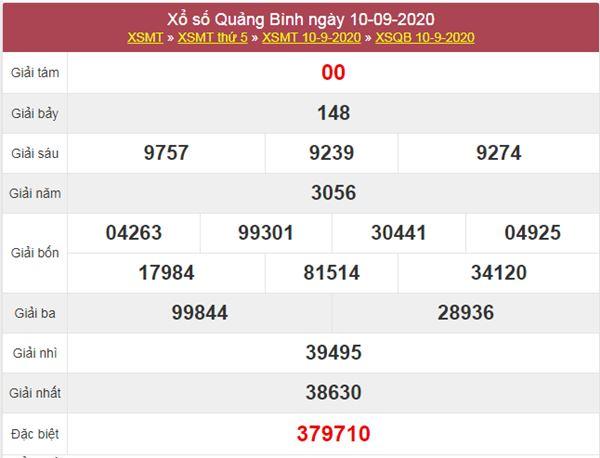 Thống kê XSQB 17/9/2020 chốt lô VIP Quảng Bình thứ 5