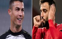 Ronaldo phấn khích với thành tích của Bruno Fernandes