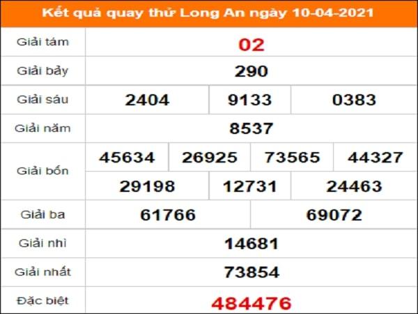 Quay thử kết quả xổ số tỉnh Long An ngày 10/4/2021
