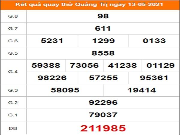 Quay thử Quảng Trị ngày 13/5/2021 thứ 5