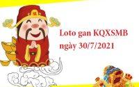 Loto gan KQXSMB ngày 30/7/2021